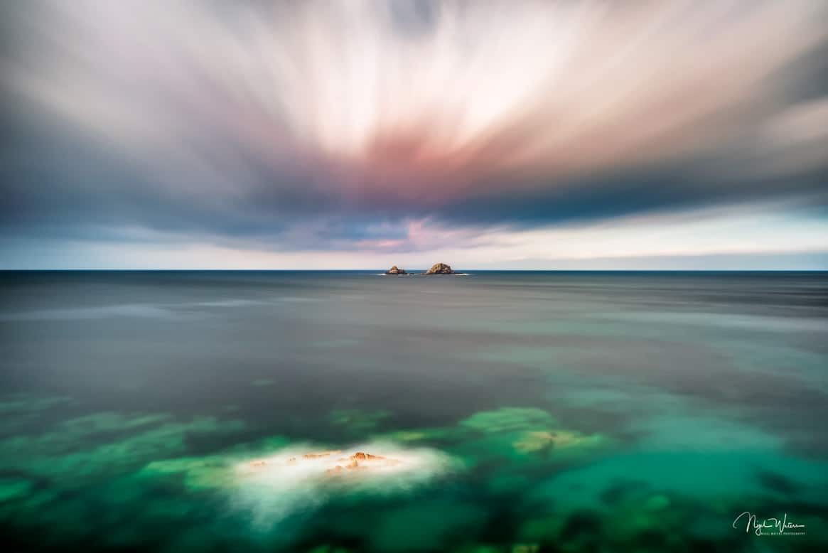 Long Exposure Seascape Photograph at the stunning Cot Valley Nanven Cornwall by Photographer Nigel Waters