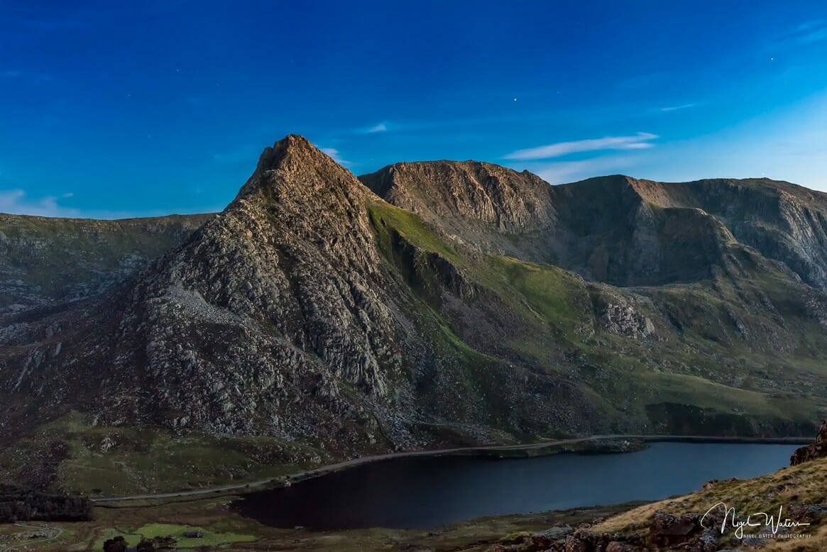 Tryfan at blue hour
