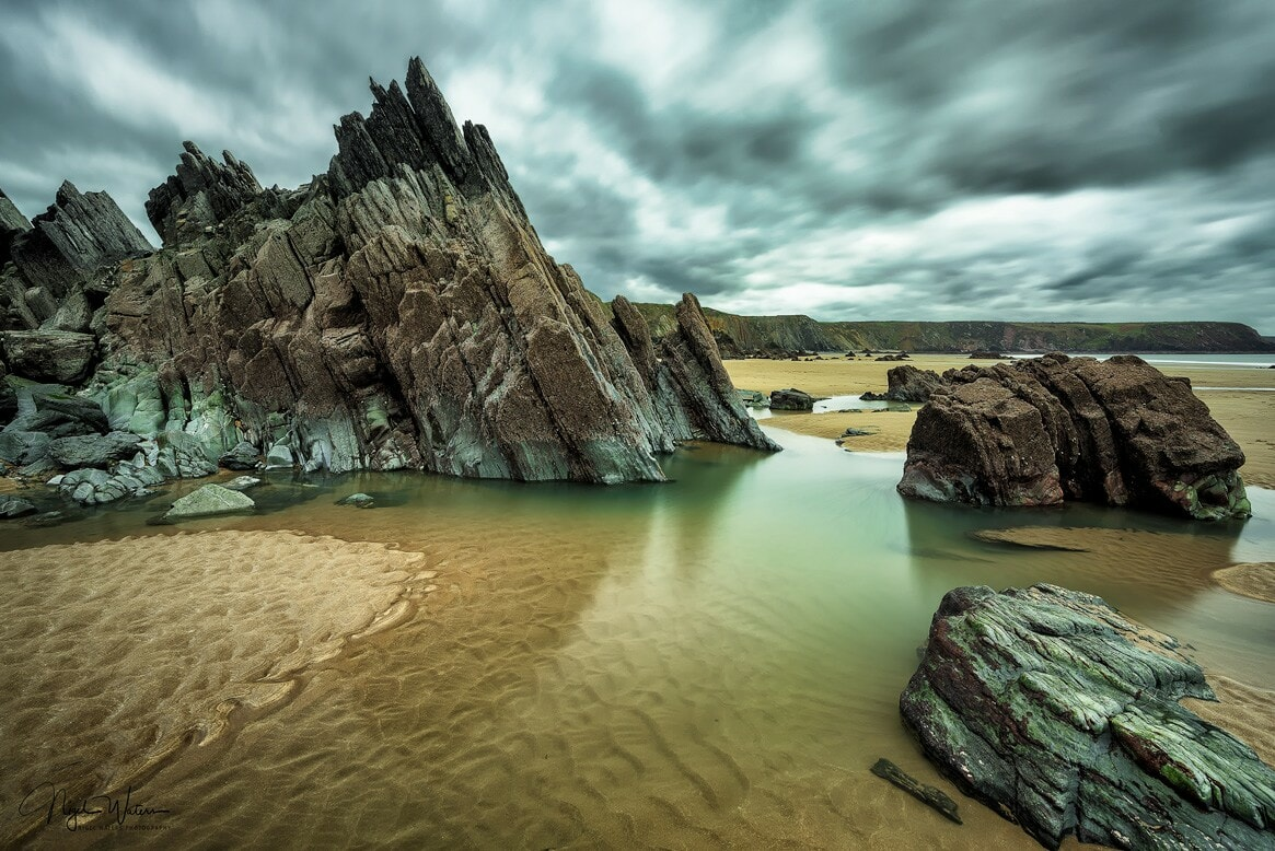 Amazing rock formation on a Pembrokeshire coast by Nigel Waters Photography