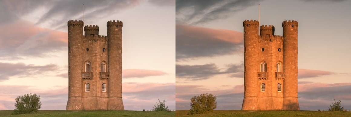 Light on Broadway Tower Comparison by Nigel Waters Photography
