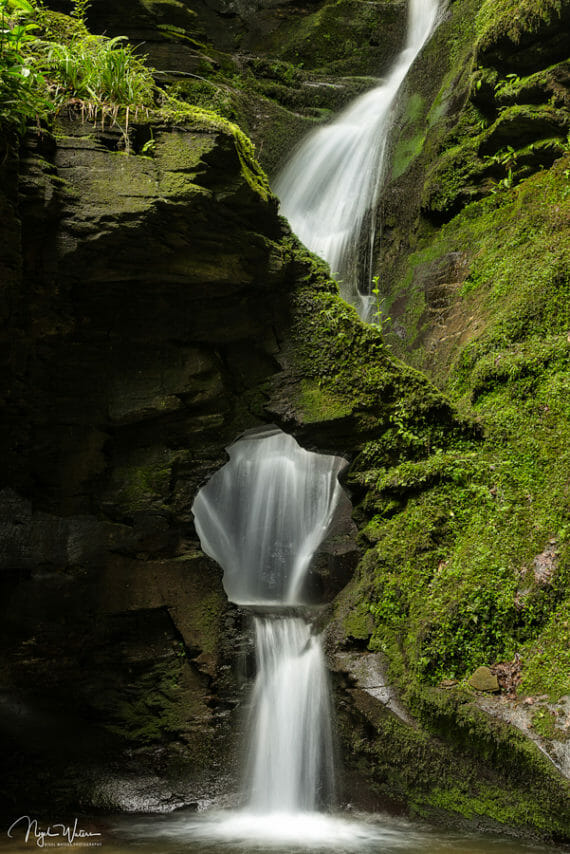 Nature Photograph of the stunning St Nectan's Waterfalls in Cornwall by Nigel Waters Photography