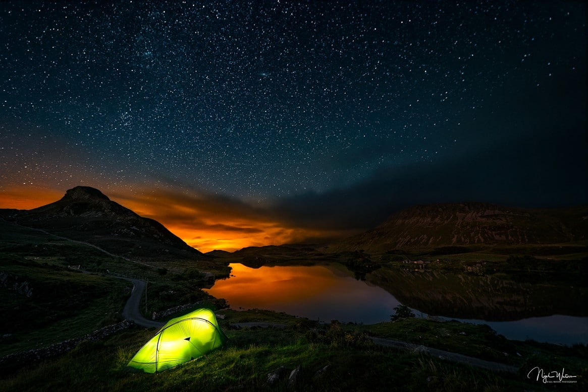 Night under the stars Astrophotography Photograph Wales