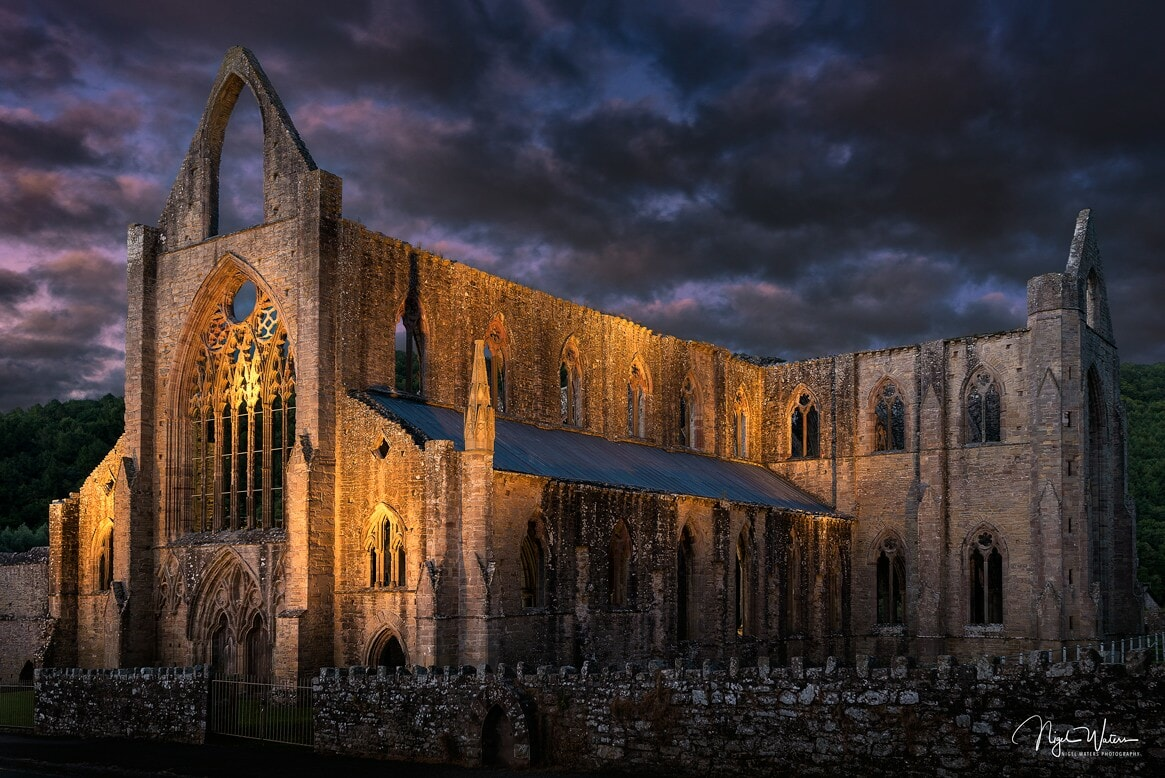 Tintern Abbey at sunset