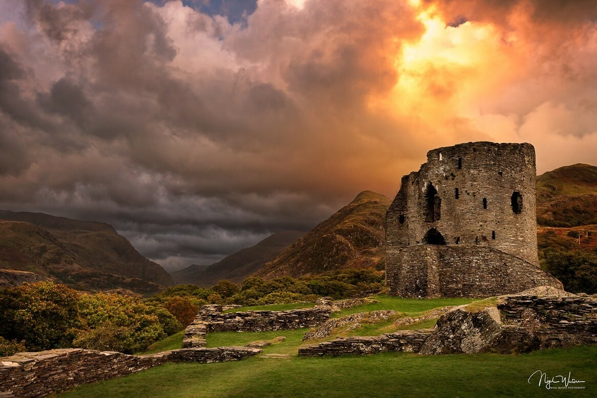 Dolbadarn Castle at Sunset
