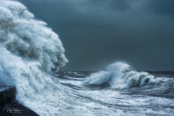 brutal storm in South Wales