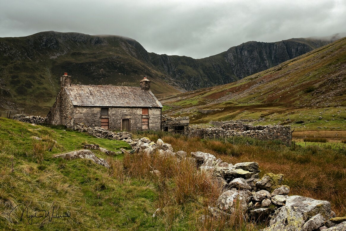 Old cottage Carneddau, Snowdonia North Wales