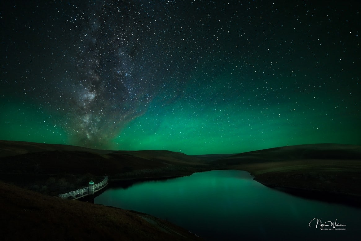 Milky Way with Astro glow over Elan Valley Wales