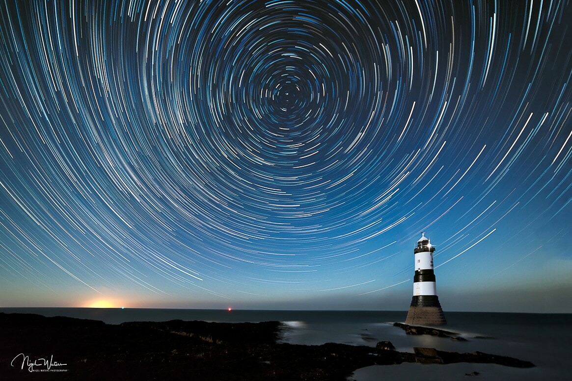 Penmon Point Star Trails