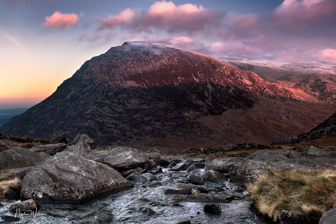 Pen yr Ole Wen on a cold winters morning