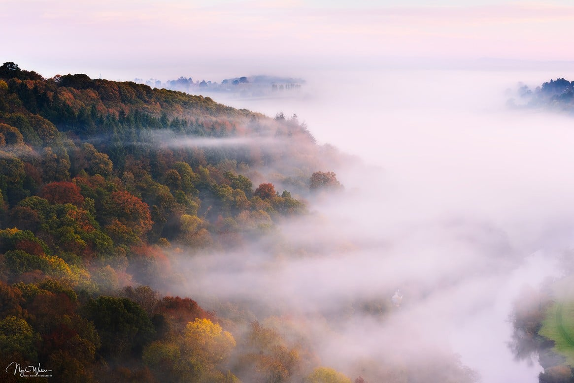 Symonds Yat with beautiful autumnal colours in the trees