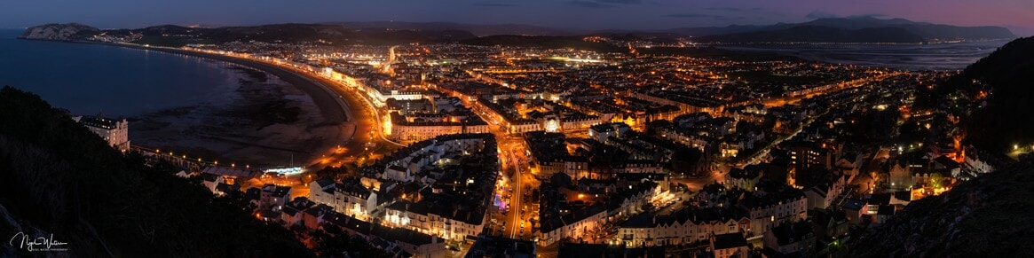 Llandudno Nightscape Photograph taken from Pen y Dinas Hillfort