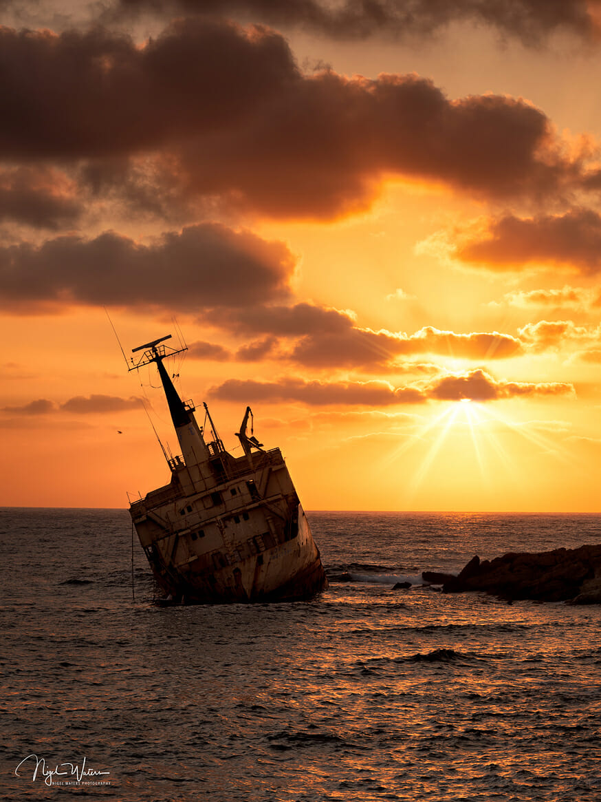 Edro III Shipwreck Sunset