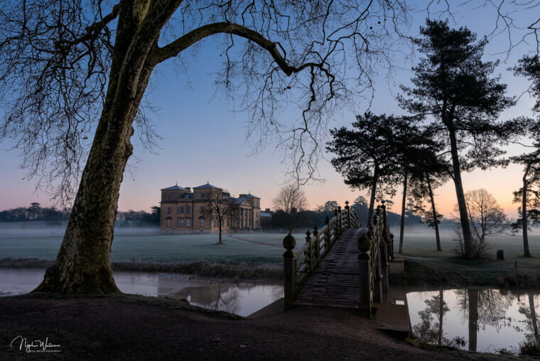 Croome Court winter blue hour