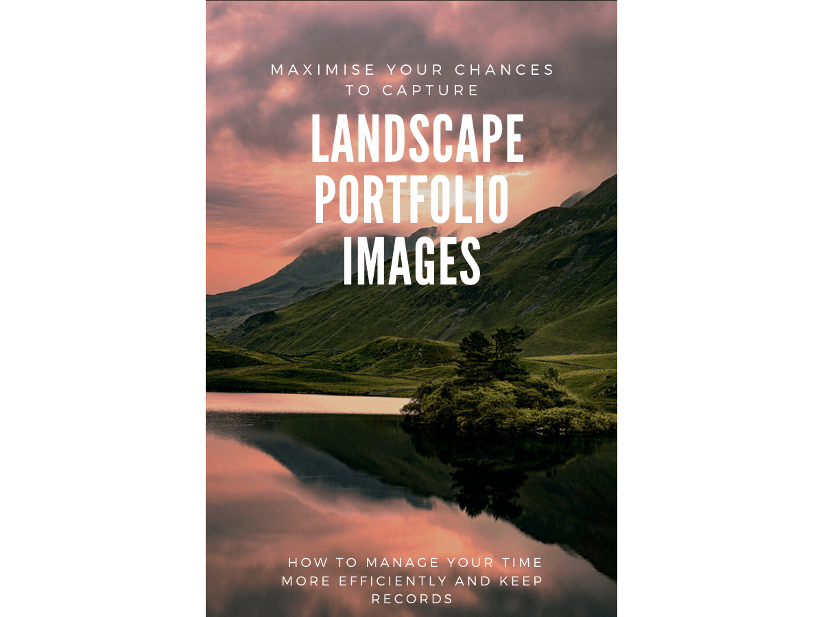 Capture landscape portfolio photographs