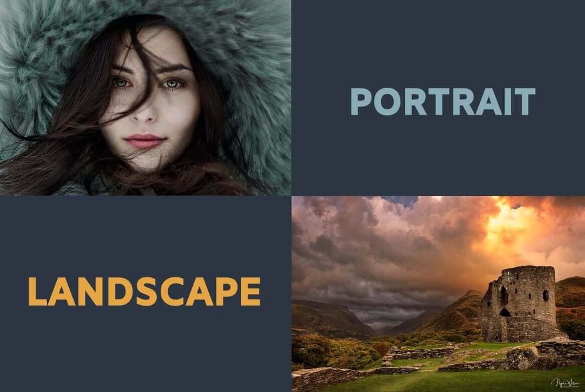 Portrait vs Landscape by Photography Genre