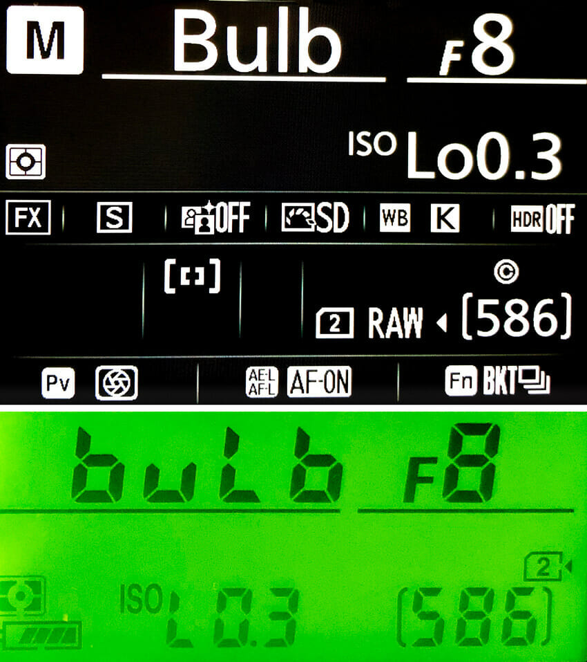 B mode Shutter Speed Dial Nikon