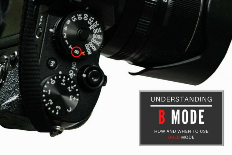 What is B mode on a camera and how it controls shutter speed