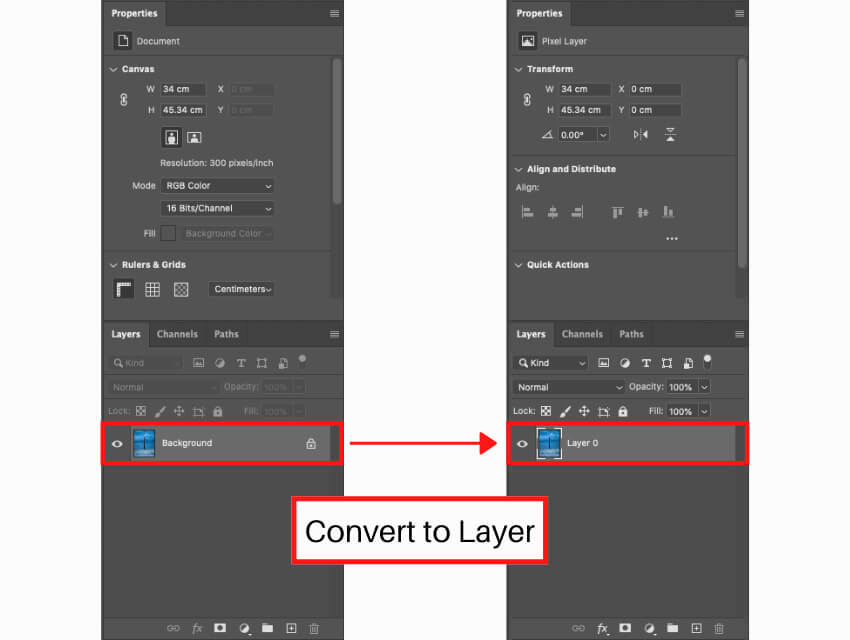 Content Aware Scale convert to layer