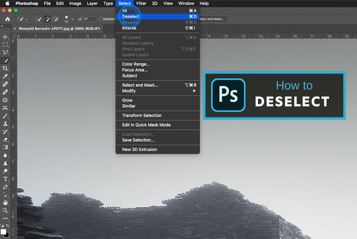 How to Deselect and Reselect in Photoshop