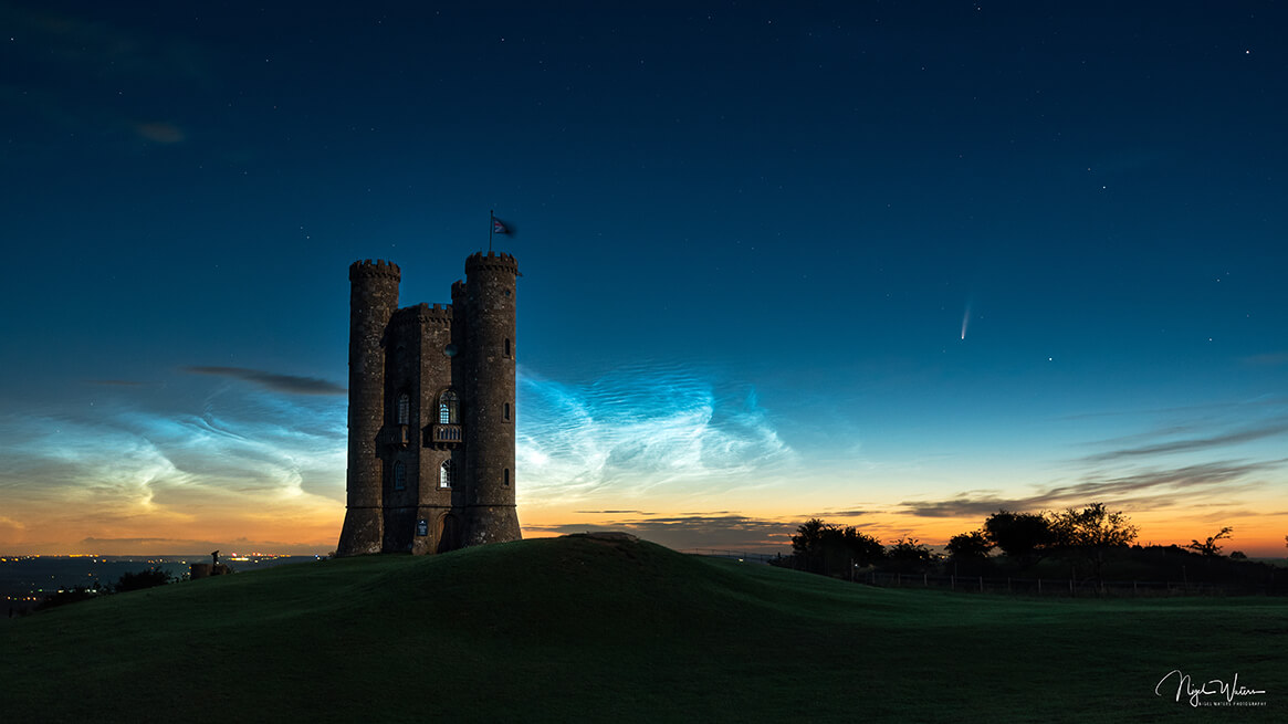 Limited Edition Nightscape print of Broadway Tower Cotswolds